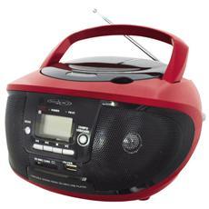 Radio Portatile CDKU-55C Sintonizzatore AM / FM Lettore CD Porta USB Slot SD / MMC Ingresso AUX colore Rosso / Nero