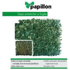 Siepe sintetica copertura giardino finte foglie acero 1x2 mt Papillon