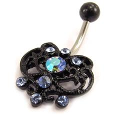 body piercing 'elfique' blu - [ e3652]