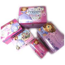 set di 5 tronchi cupola 'princesse sofia' rosa porpora - [ n0907]