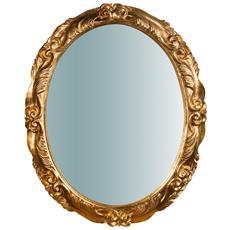 Specchiera Da Parete Verticale / orizzontale In Legno Finitura Foglia Oro Anticato Made In Italy L98xpr7xh78 Cm