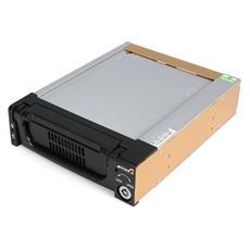 """Cassetto rack portatile per disco rigido SATA da 5,25"""", robusto, in alluminio e di colore nero"""