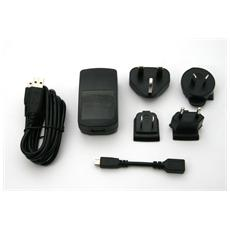 Kit Caricabatterie Originale Mini e Micro USB con cavo Dati e Borsa