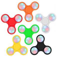 Fidget Spinner Led Gioco Antistress 4280 In Diversi Colori Triangle Plastica