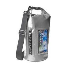 Borsa Impermeabile Explorer 5L con Tasca per Smartphone da 6.2' Colore Grigio