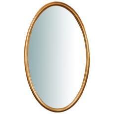 Specchiera Da Parete Verticale / orizzontale In Legno Finitura Foglia Oro Anticata L71xpr4,5xh122 Cm Made In Italy