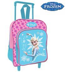 Zaino Trolley Frozen Elsa Disney Asilo Scuola Bambine Viaggi Alto 30 Cm