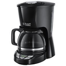 Macchina del Caffè Texture Nera 22620-56 Caraffa in Vetro 1,25 Litri Timer 975 Watt