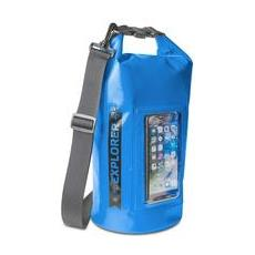 Borsa Impermeabile Explorer 5L con Tasca per Smartphone da 6.2' Colore Blu