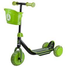 Bambini Str Mini Kid 3w Kick Scooter, Bambini, Str Mini Kid 3w, Nero / verde, Taglia Unica