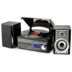 Sistema Micro Hi-Fi MCD1700 Lettore CD / Giradischi / Cassette Potenza Totale 40Watt USB / Slot SD / MMC