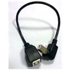 Mini Cavo Adattatore Angolare Usb 2.0 Tipo B Stampante Bm / bf 90 Gradi Da 26cm
