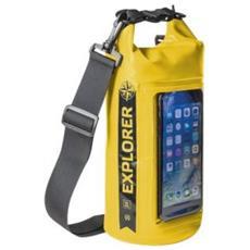 Borsa Impermeabile Explorer 2L con Tasca per Smartphone da 6.2' Colore Giallo