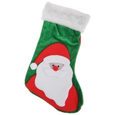 Calza Natalizia Con Disegni (taglia Unica) (babbo Natale)