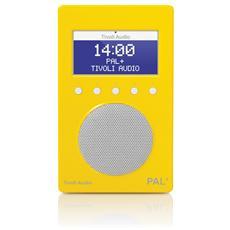 Pal+ Radio Portatile DAB / DAB+ / DMB / FM / RDS Colore Giallo / Bianco