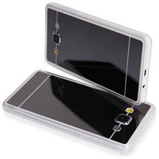 Cover Mirror In Silicone Per Samsung Galaxy A5 A500 Con Back Cover A Specchio Nera Black