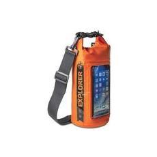 Borsa Impermeabile Explorer 2L con Tasca per Smartphone da 6.2' Colore Arancione