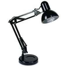 LDT033ARC-NERO - Lampada da tavolo moderna di colore nero 60 watt E27
