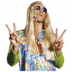 parrucca hippie con trecce lunga