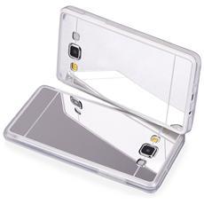 Cover Mirror In Silicone Per Samsung Galaxy A5 A500 Con Back Cover A Specchio Silver Argento