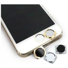 Tasto Home Bianco / gold Stile 5s Con Anello Per Iphone 5 - 5c