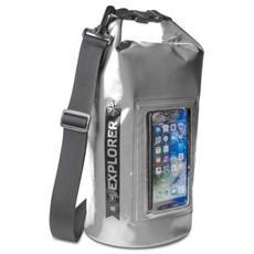 Borsa Impermeabile Explorer 2L con Tasca per Smartphone da 6.2'' Colore Grigio