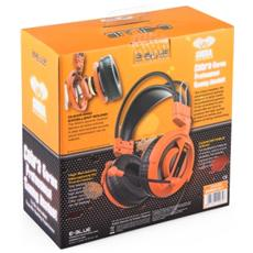 Cobra Stereofonico Padiglione auricolare Arancione cuffia e auricolare