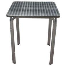 Tavolo In Alluminio Quadro Mof. Happy Hour 60x60x70hcm Impilabile