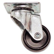 Ruota in Nylon con Piastra Girevole D1P Ø 40 mm Piastra 47x47 mm Portata 25 Kg