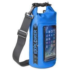 Borsa Impermeabile Explorer 2L con Tasca per Smartphone da 6.2' Colore Blu