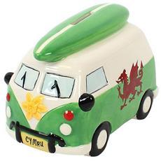 Salvadanaio A Forma Di Caravan Del Galles (taglia Unica) (verde)