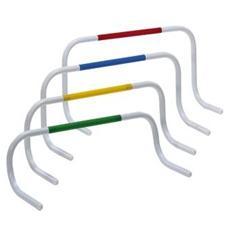 Ostacoli in PVC bilanciati Set da 4 pezzi Altezza 30 cm Colore Blu