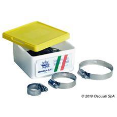 Fascetta inox 130/152 mm