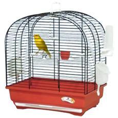Gabbia per uccelli in ferro con griglia estraibile 36x27xH40 cm