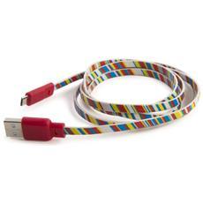 1.2m USB 2.0 1.2m Micro-USB B USB A Multicolore cavo USB