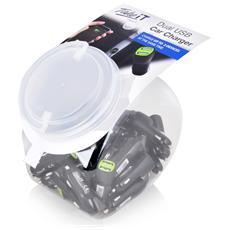 Caricatore da auto 2 porte USB 2.1A Jar da 30 pezzi