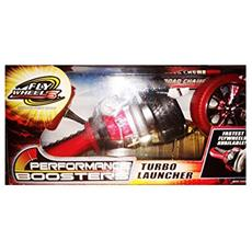 Fly Wheels - Turbo Launcher - 2 Ruote Incluse - Nera / rossa - Lanciatore Incluso