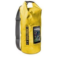 """Explorer borsa tracolla impermeabile capienza 10 litri con tasca porta smartphone fino a 6.2"""" Colore Giallo"""