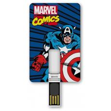 Marvel Captain America 8GB USB 2.0 Tipo-A Multicolore unità flash USB