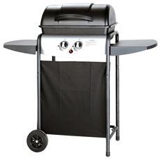 Barbecue A Gas Griglia Smaltata Fornelli In Alluminio Con 2 Ruote