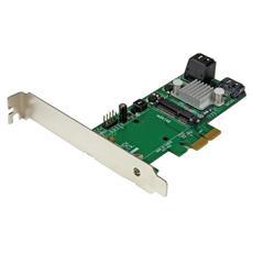 Scheda Controller PCI express 2.0 SATA III Raid 6 Gbps a 3 porte con slot mSATA e SSD HyperDuo Tiering