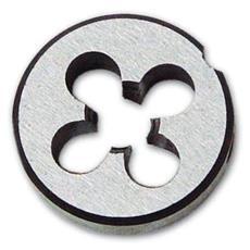 Filiera Tonda Ø int. 8 mm Passo MA 1,25 Ø est. 25x9 mm in acciaio temperato