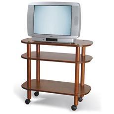 Carrello Porta Tv In Faggio E Nobilitato Colore Noce Mod. europa 80x40x72 Cm Cod. 03-126