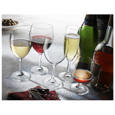 Set 6 Confezioni 3 Calici In Vetro Globo Vino Cl26