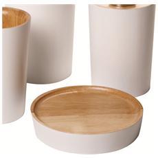 Portasapone Legno / bianco - Serie Wood