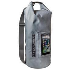 Borsa Impermeabile Explorer 10L con Tasca per Smartphone da 6.2' Colore Grigio