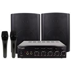 Kit Karaoke: Amplificatore + Altoparlanti + Microfoni