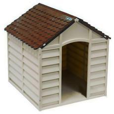 Cuccia per cani in Pvc per esterno beige e marrone cm 78x84x60-80 H