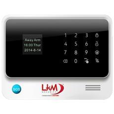 Antifurto Lkm Security® Wifi E Gsm Con Sensori Wireless Tasto Sos 433mhz Colore Bianco