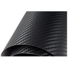 Pellicola Adesiva 50 X 200 Friba di Carbonio Nera 3D Antigraffio Tuning Auto Moto